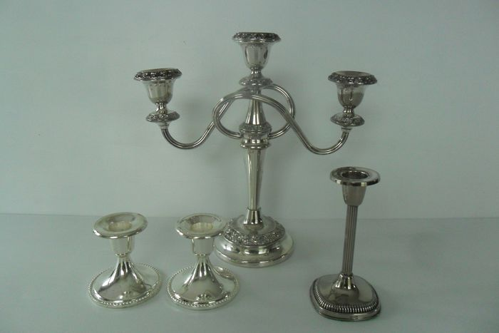 Candlesticks (4) - Silverplate
