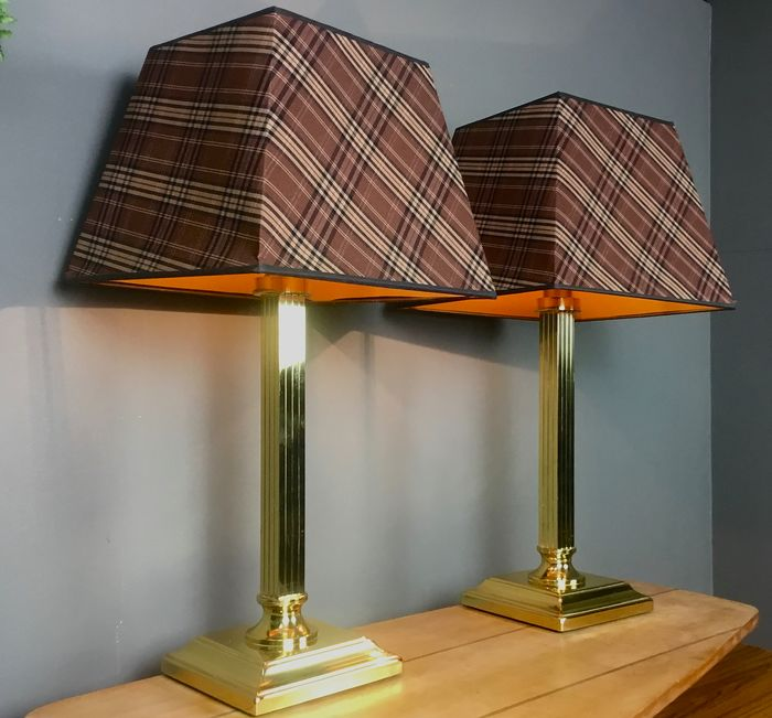 Herda Holland - Pair of Classical Brass HERDA Table lamps 1970's