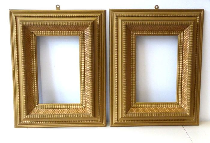 Pair of Antique Florentine Wooden Frames worked in gold Year 1900 Approx (2) - Art Deco - Wood