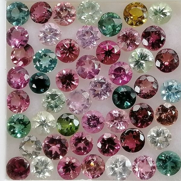 50 pcs  Tourmaline - 5.98 ct
