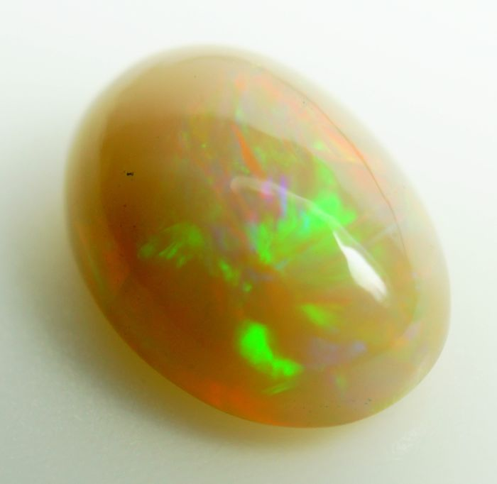 Hydrophane Play-Of-Color  Opal - 5.07 ct