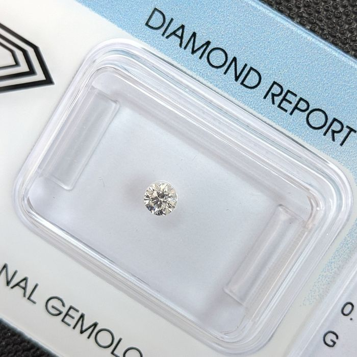 Diamant - 0.11 ct - Brillant - G - VS1, IGI Antwerp - No Reserve Price