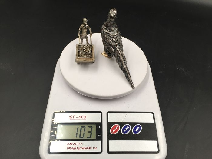 Silver Bird and Little Man - Italy - 800 - .800 silver