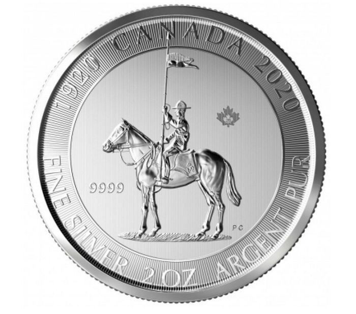Canada - 10 Dollar 2020 Royal Canadian Mint 100 Jahre Mounty Mounted Police - 2 Oz - Argent