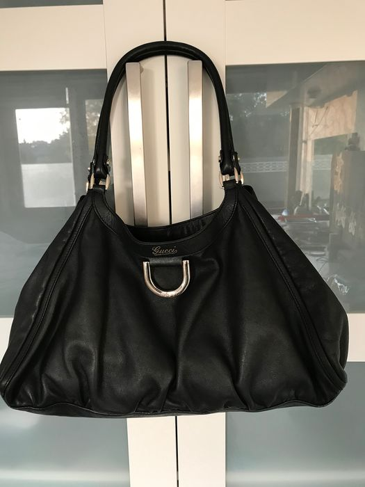 Gucci - Black Leather Abbey D-Ring Hobo Bag Shoulder bag