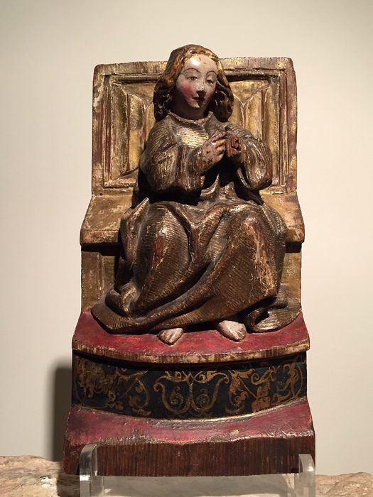 Sculpture - Gothic - oak with polychrome paint & gilding - Early 16th century