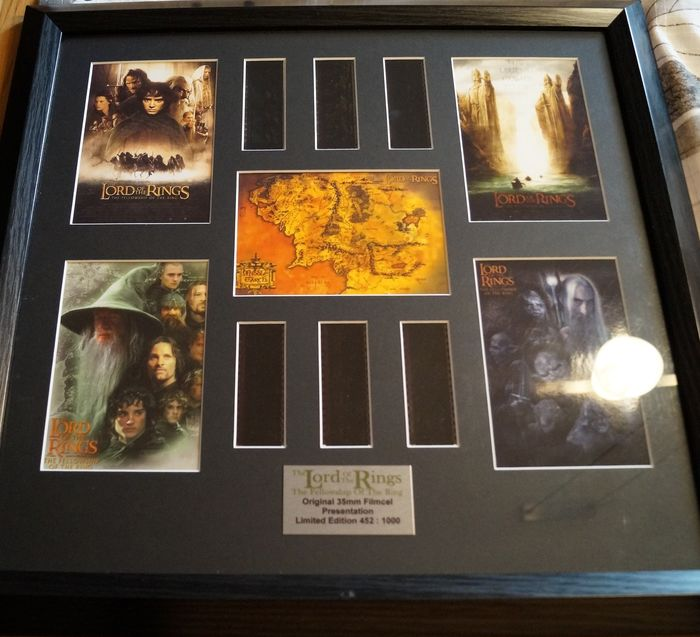 Lord of the Rings - The Fellowship of the Ring - framed 35 mm Movie  - Film cell display framed Limited Edition with COA