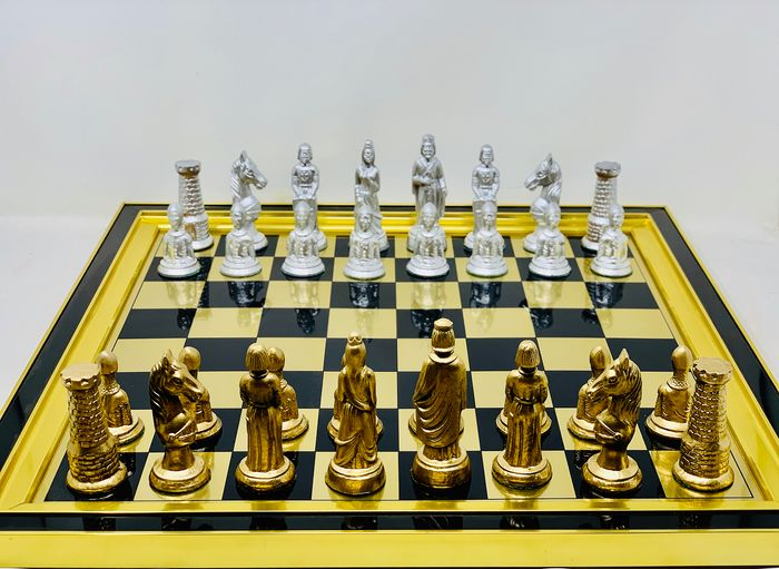 Medieval Holy War Chess - Romanesque Style - Bakelite