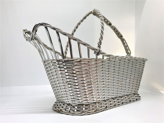 Christofle, Braided basket - Silver plated