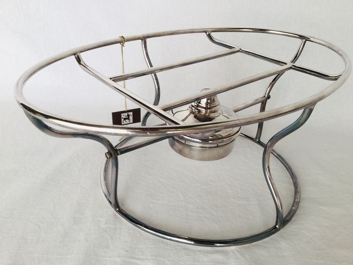 """ERCUIS large Rechaud """"Chauffe Plat"""" table oven - Silver-plated metal from the renowned ERCUIS house, Top quality __ NEW CONDITION!"""