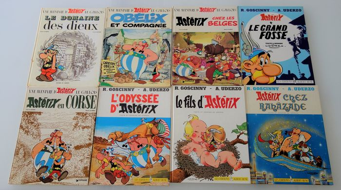 Asterix - 8 albums - 8x C - First edition - (1971/1987)