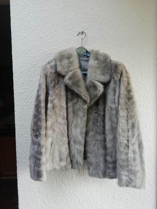 Silver Grey Mink Tale Short Coat