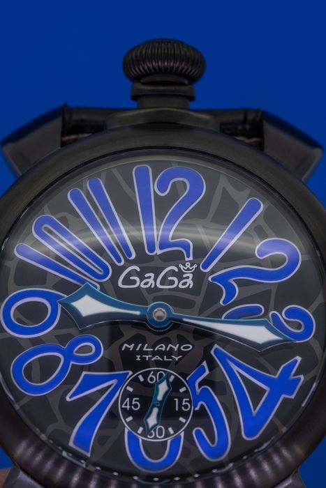 GaGà Milano - Manuale 48MM Mosaico Black PVD Swiss Made - 5012.MOS.02S - Men - Brand New