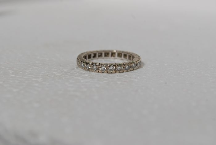 18 quilates Oro blanco - Anillo - Diamantes