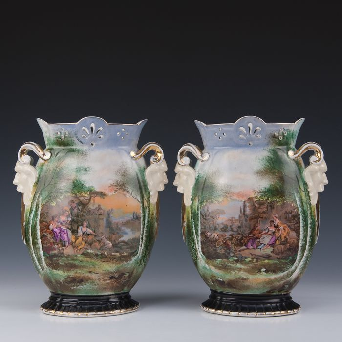 Pair of large ornamental vases