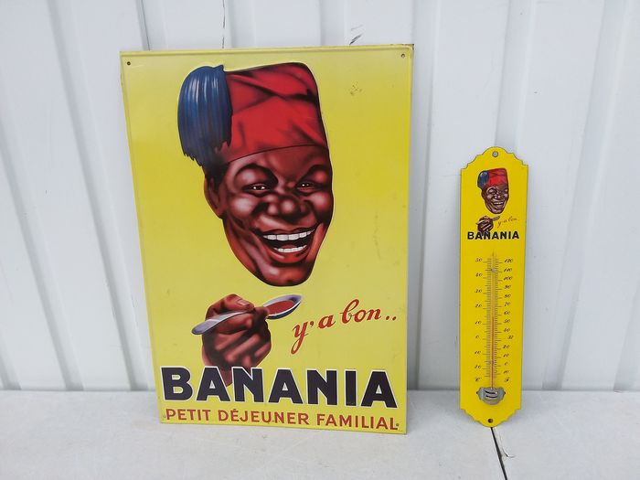 can banania plate thermometer. - tin email.