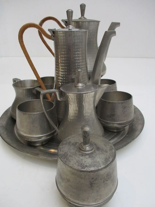 After Michelangelo - Durenne Foundry - Tin, selangor pewter Malaysia Singapore (11) - Art Deco - Pewter/Tin