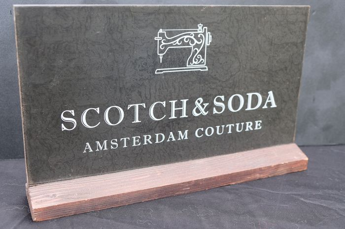 Scotch & Soda - Sign - Iron (cast/wrought), Wood