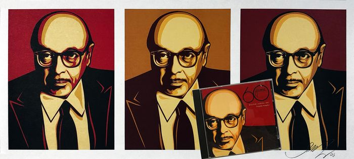 Shepard Fairey (OBEY) - 'Ahmet Ertegun' w/CD