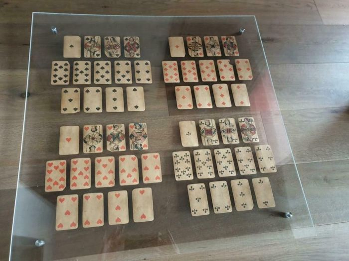 tickets - playing cards - F.A. Bohme - 19th century