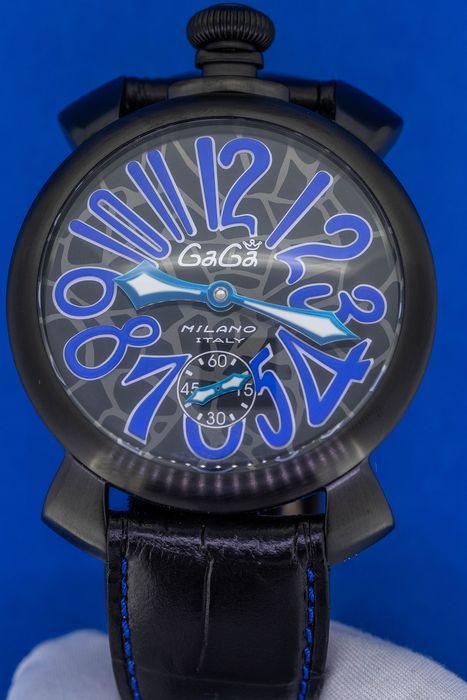 GaGà Milano - Manuale 48MM Mosaico Black PVD Swiss Made - 5012.MOS.02S - Hombre - Brand New