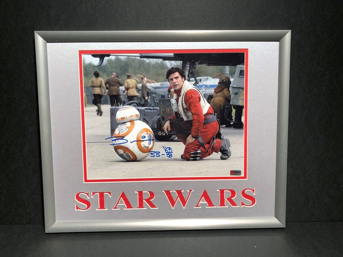 Star Wars - Brian Herring - BB-8 - photo signed in person + small drawing - framed