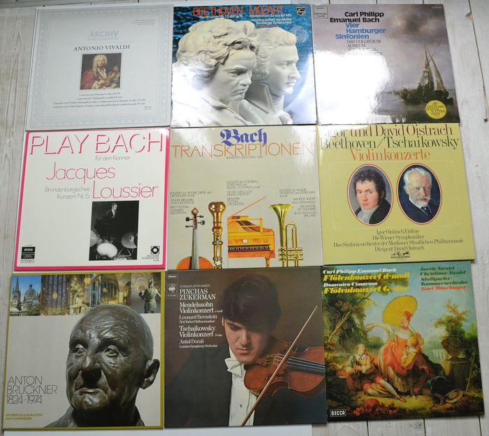 9 Albums  10 LPs very rare Oistrach USSR Bach Pinchas Zukerman - Multiple artists - Multiple titles - LP Box set, LP's - 1968/1975
