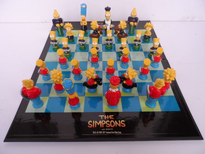 Chess game The Simpsons 3 D Collector item (1) - plastic