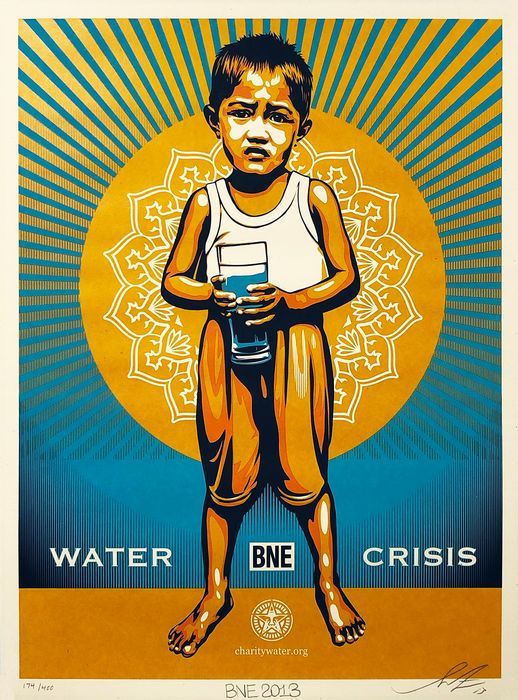 Shepard Fairey (OBEY) - 'BNE (Water Crisis)'