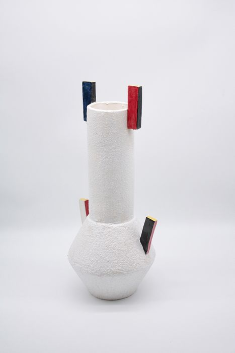 "Max Modolo - ""Red and Blue"" vase (46 cm) (1)"