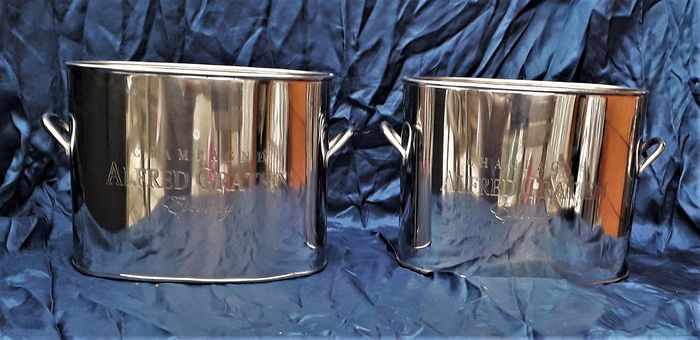 set of oval champagne coolers - Aluminium