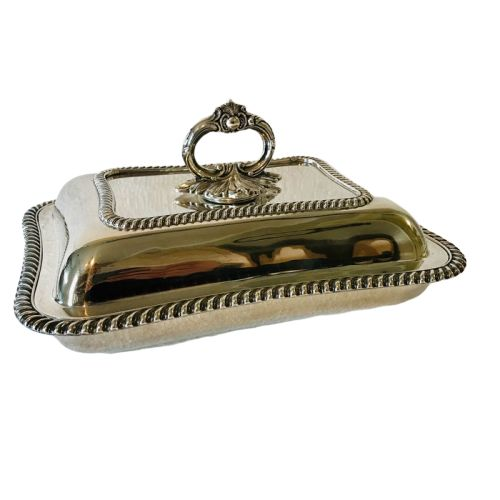 EPNS - Rococo style oven dish with silver stamp - Rococo - Silver