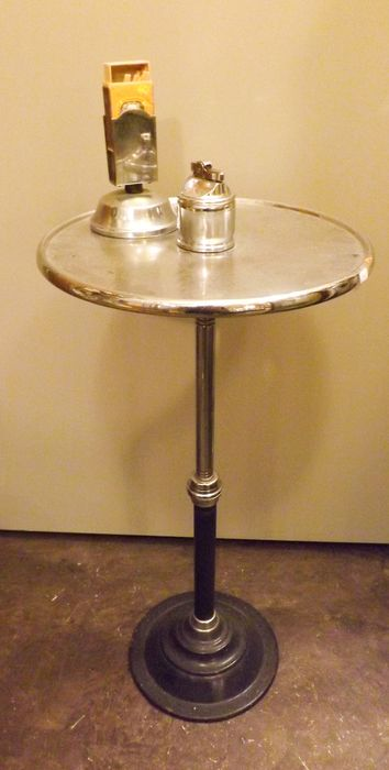 Smoking table - Art Deco - Steel (stainless)