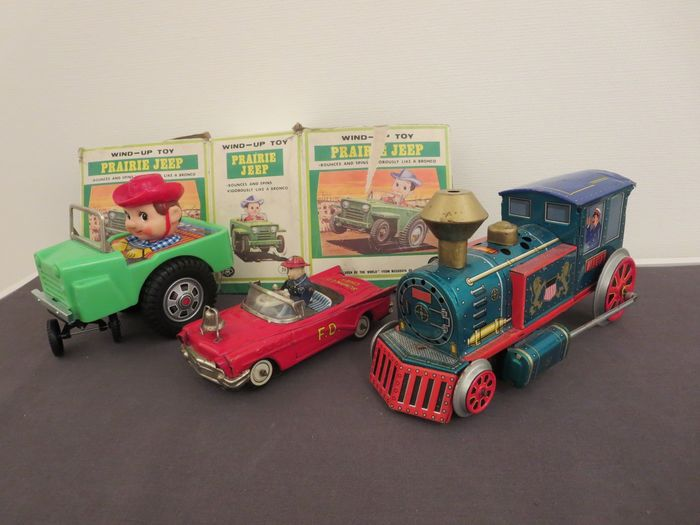 Different brands - Locomotiv+ambulance+jeep - 1960-1969 - Japan