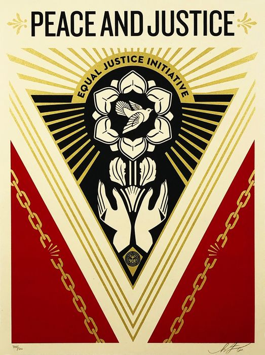 Shepard Fairey (OBEY) - ''Peace & Justice Summit'
