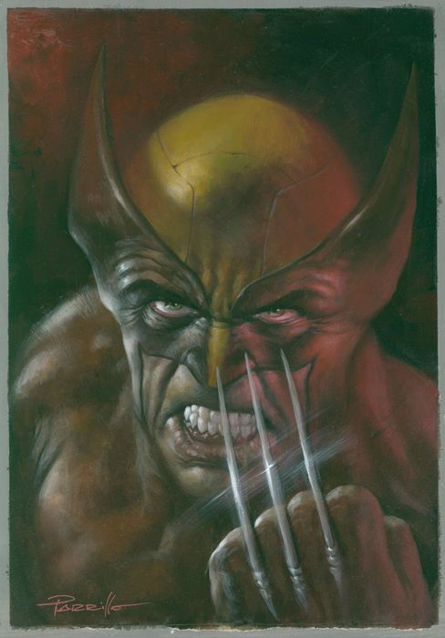 Return of Wolverine #1 - Original variant cover - oil painting by Lucio Parrillo - First edition - (2018)