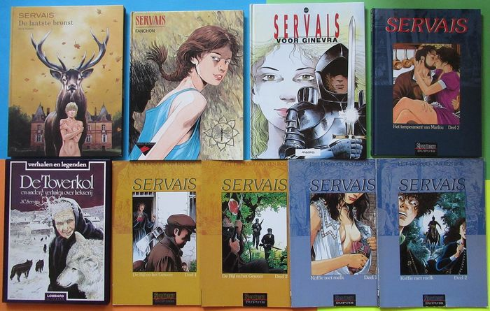 Servais - Diverse titels - 4x Softcover - 5x Hardcover - Eerste druk - (1982/2011)