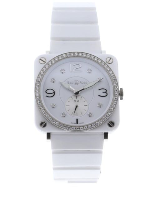 Bell & Ross - BR S White Ceramic Quartz White Diamond Dial Diamond Bezel - BRS-WHC-PH-LGD/S - Damen - 2019