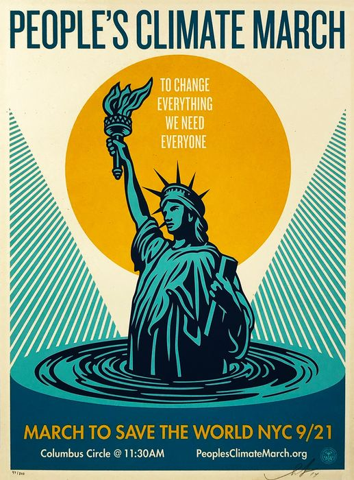 Shepard Fairey (OBEY) - ''People's Climate March'