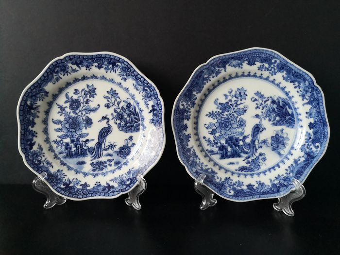 Chinese 18th century octagonal porcelain dishes (2) - Porcelain - China - 18th century