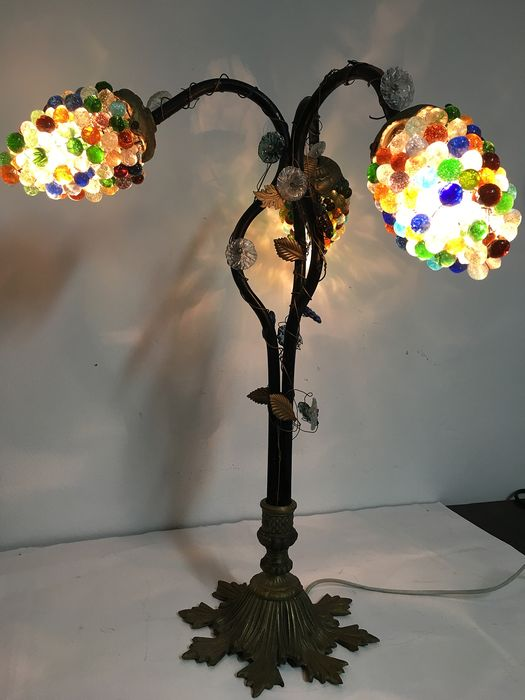 Murano style table lamp