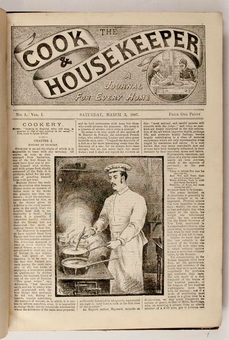 The Cook and the Housekeeper. A Journal for Every Home - 1887