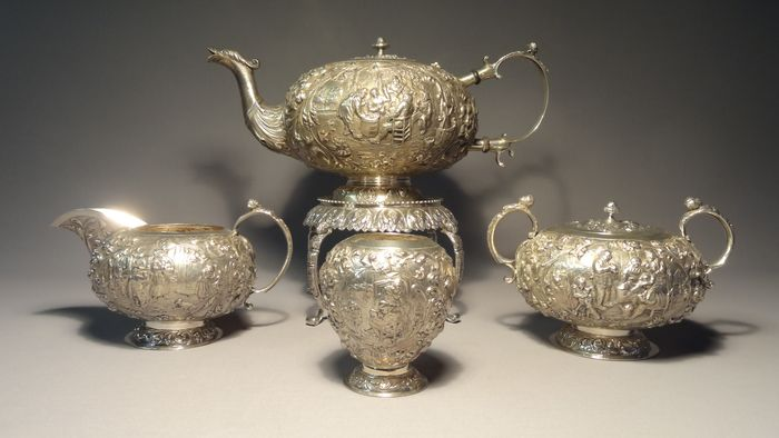 Tea service - Silver - Netherlands - Early 20th century
