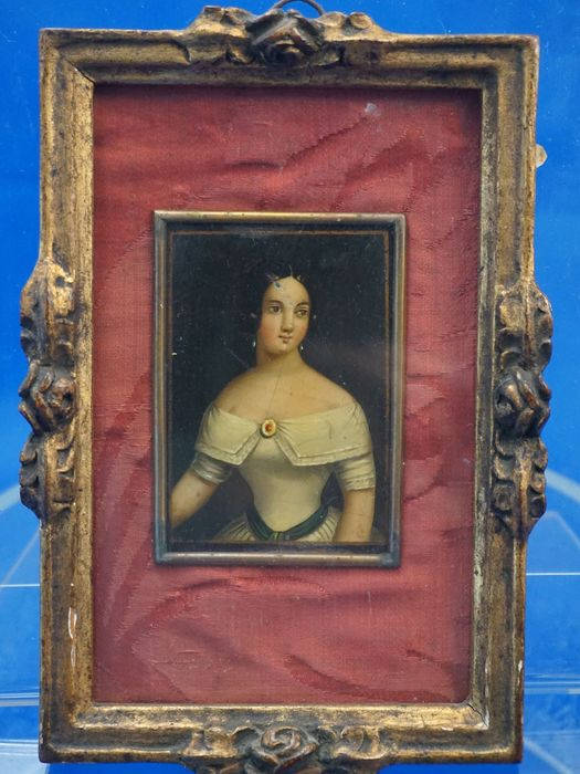 Portrait miniature (1) - Copper - Early 19th century