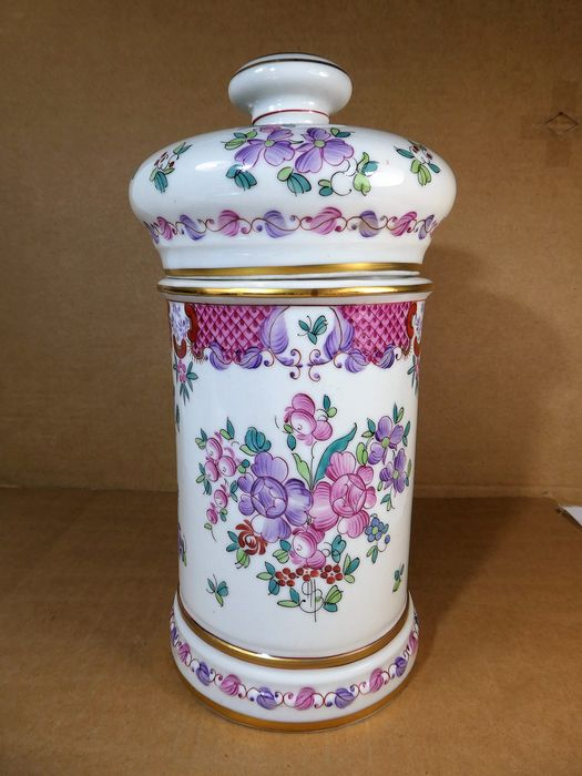 Porcelaine de Paris (Samson) - Large beautifully decorated pharmacy jar - Porcelain