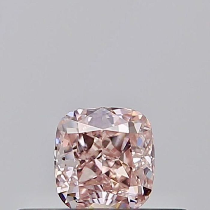 1 pcs Diamant - 0.19 ct - Coussin - fancy orangy pink - SI1, ***investment collector***