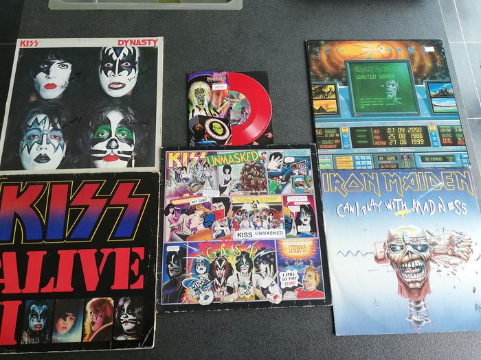 Iron Maiden, KISS - Multiple artists - Multiple titles - Limited picture disk, LP Album, LP's, Picture disk limited edition - 1979/1999