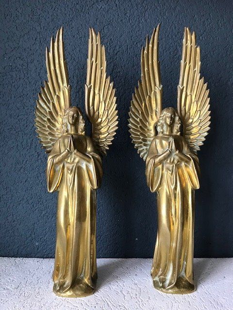 angels (2) - Bronze - Early 20th century