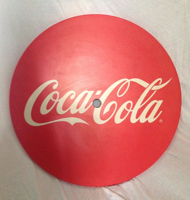 Coca Cola - Round coffee table top - Resin/Polyester, Steel