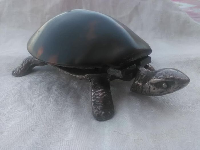 Novelty Turtle Desk Bell  - Silver plated, Cast-metal  - circa 1900